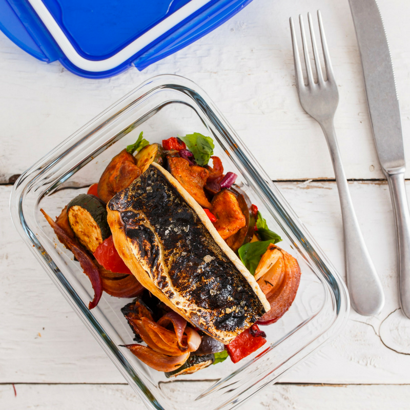 Ratatouille With Grilled Mackerel