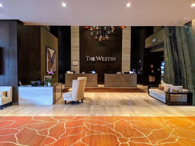 Panama City Layover: Lobby of the Westin Panama Hotel