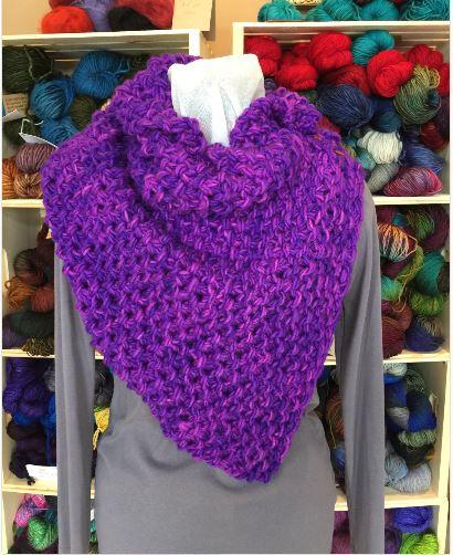 Purple Scarf by Abigail MacEachern