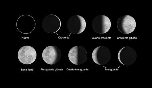 8 fases lunares