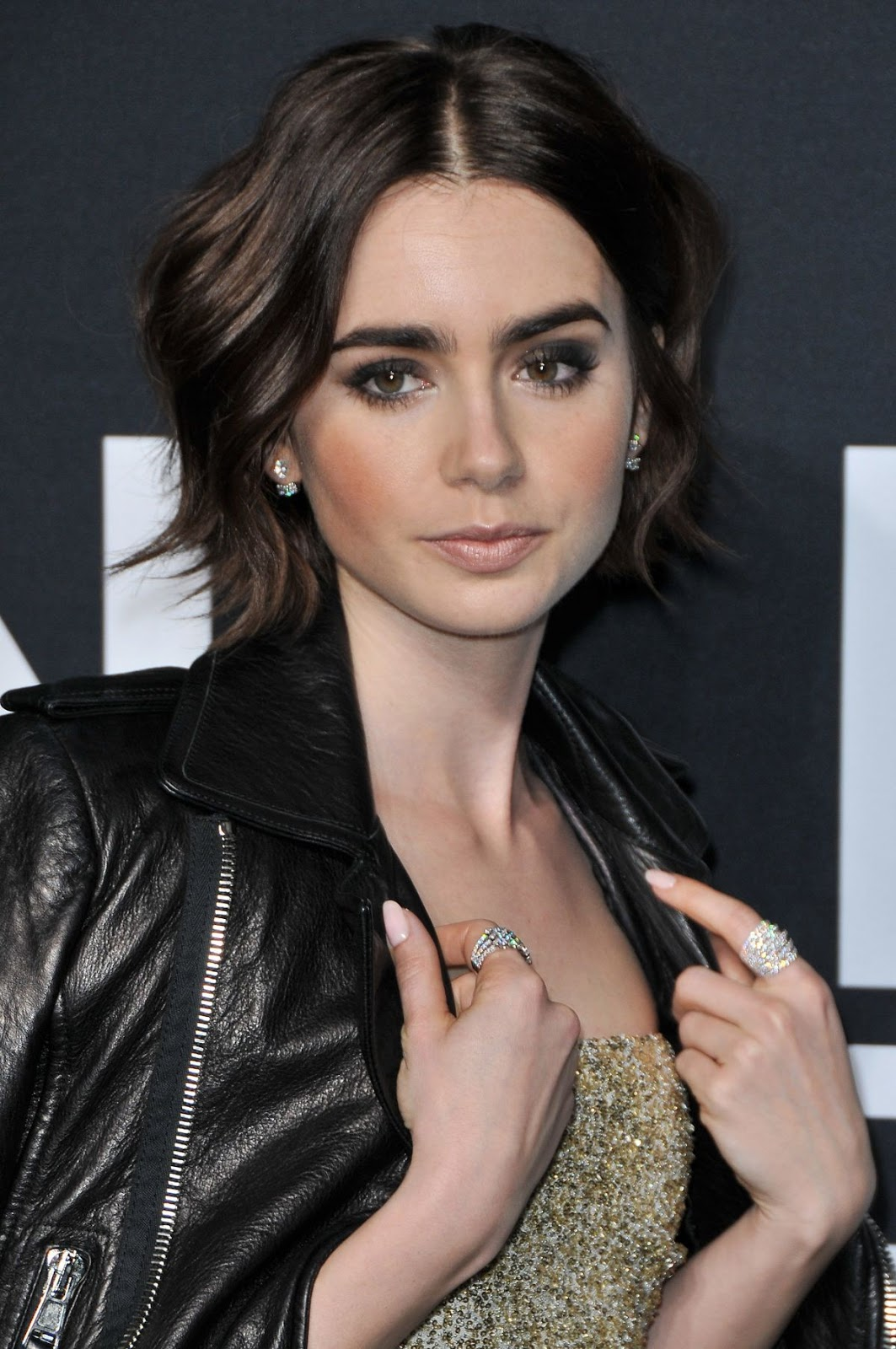 Lily Collins at Saint Laurent Fashion Show in Los Angeles