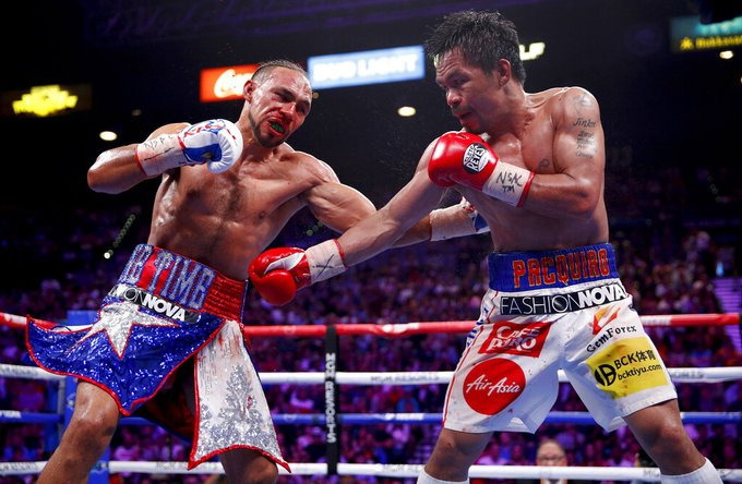 """Mannny Pacquiao wins, clinches Keith Thurman's WBA """"super"""" welterweight title"""
