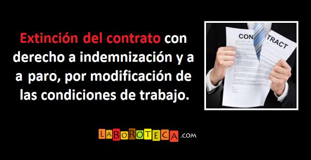 Resolución del contrato por modificación de las condiciones de trabajo