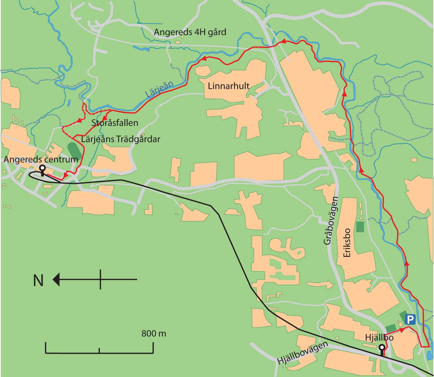 lärjeleden karta von Frank Einsteins VandringsTips.se   En promenad i Lärjeåns  lärjeleden karta