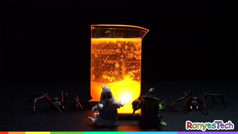 Spooky Halloween Lava Lamp Science Project Instruction Step4
