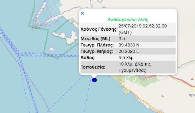 """Θεσπρωτία: Σεισμός 3,5 """"ξύπνησε"""" την Ηγουμενίτσα, δεν αναφέρθηκαν ζημιές"""