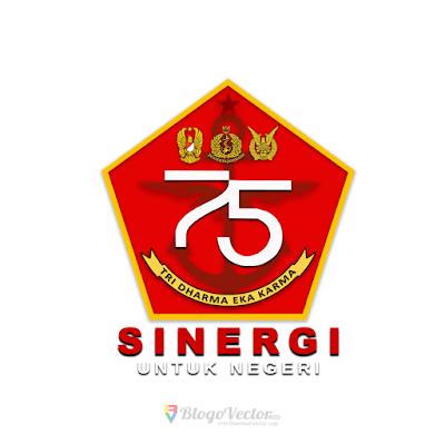 Logo dan Banner HUT TNI ke-75 2020 png HD