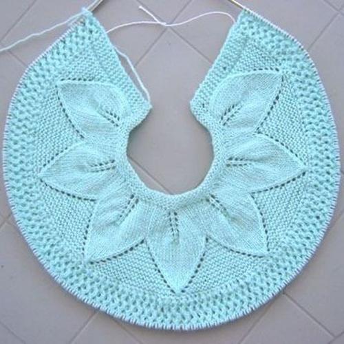 Leaf Lace Baby Sweater - Free Pattern