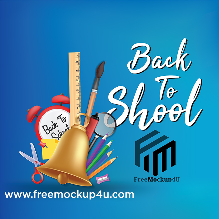 Back To School Sale Background Template AI