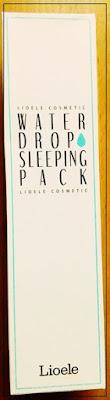 [LIOELE] - Water drop sleeping pack. - recenzja maski nawilżającej.