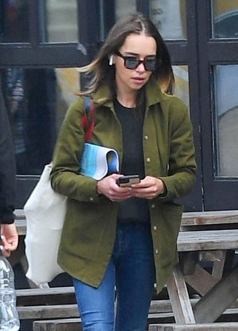 Emilia Clarke Snapped While Shopping at Planet Organic in London 24 Aug -2020