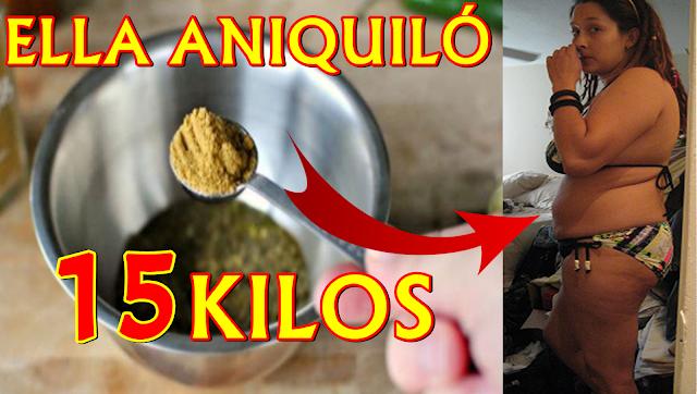 MUY FÁCIL! Una Cucharadita Diaria de Esto, Ella Aniquiló 15 KILOS de Grasa en Sólo Tres Meses