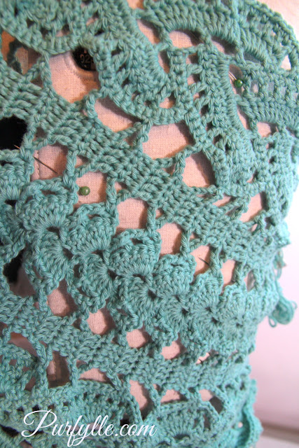 2 crochet lace tape styles joined with Bruges crochet