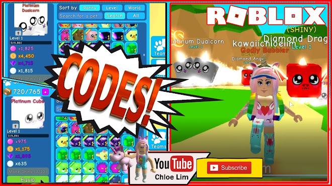 Youtube Roblox Bubble Gum Simulator Codes Roblox Gameplay Bubble Gum Simulator 4 New Codes I Hatched Platinum Cube And Platinum Dualcorn Steemit