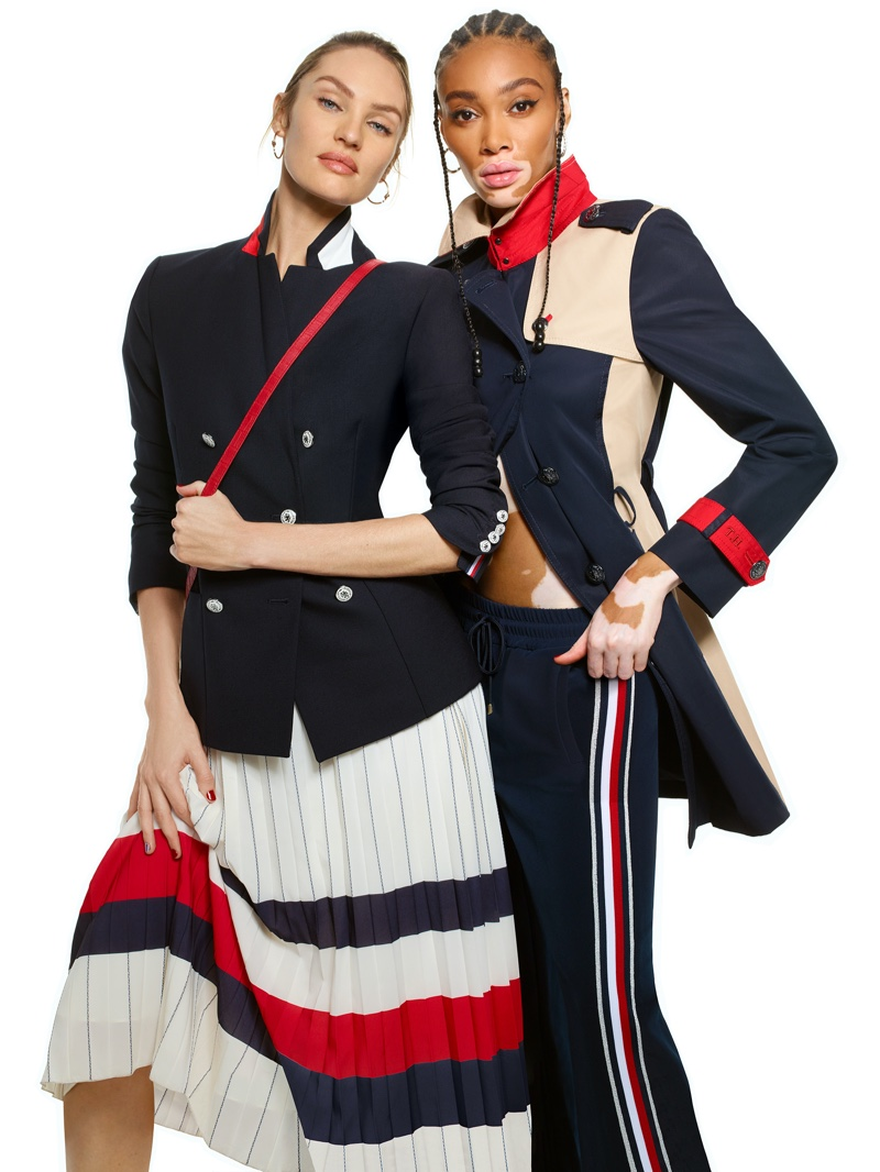 Candice, Winnie & Hannah Front Tommy Hilfiger Icons Spring 2020 Campaign