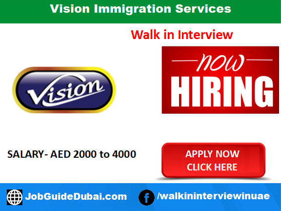 Vision Immigration Services career for Digital Marketing jobs in Dubai