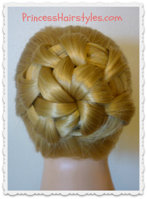 "Homecoming hairstyle ""star flower bun"""
