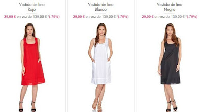 vestidos lino baratos