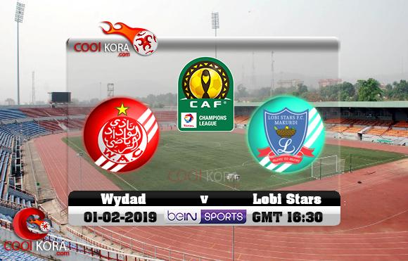مشاهدة مباراة لوبي ستارز والوداد اليوم 1-2-2019 دوري أبطال أفريقيا