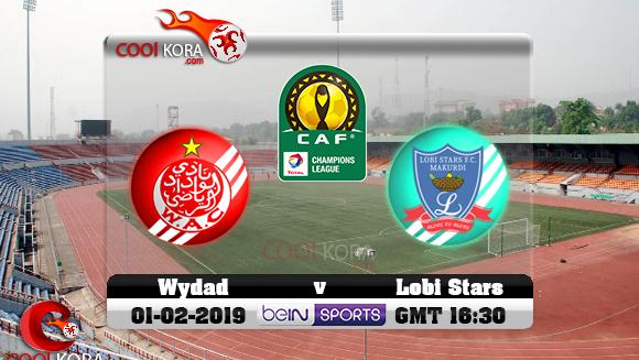 مشاهدة مباراة الوداد الرياضي ولوبى ستارز بث مباشر 2-2-2019 دوري أبطال أفريقيا