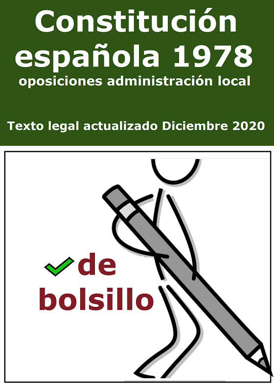 La constitución Española de 1978 para opositores de bolsillo