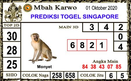 Pred Mbah Karwo SGP 45 Kamis 01 Oktober 2020