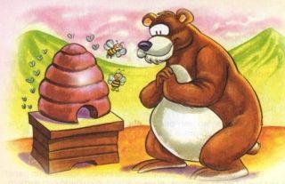 Fábula: EL oso y las abejas