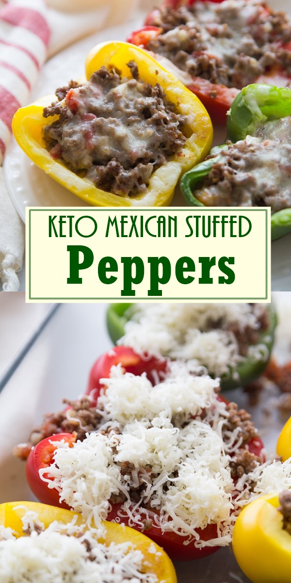 Keto Mexican Stuffed Peppers #Dinnerrecipes