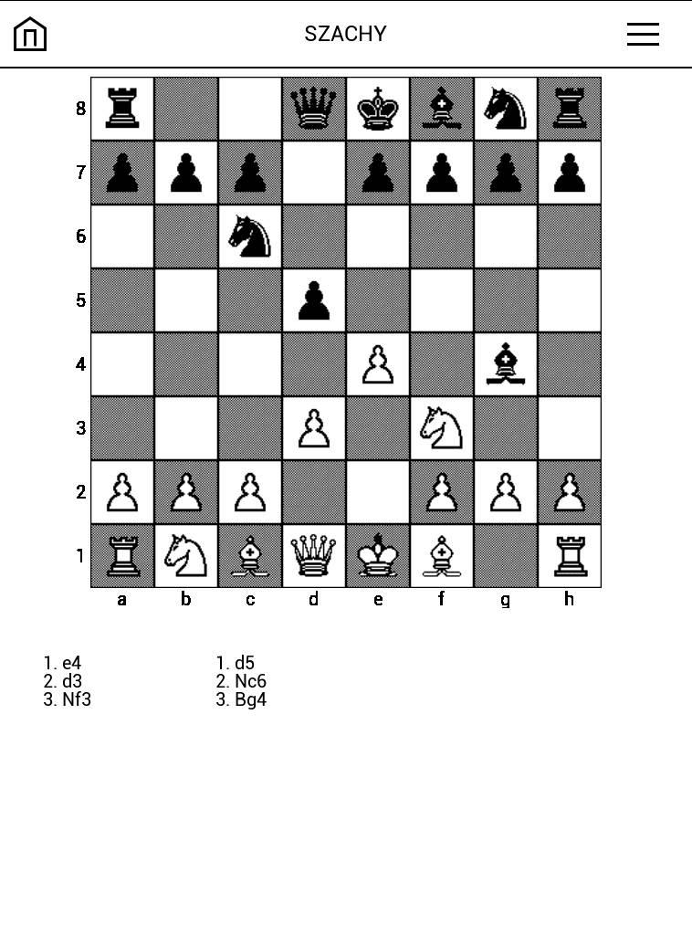 Gra szachy na czytniku PocketBook Touch Lux 4