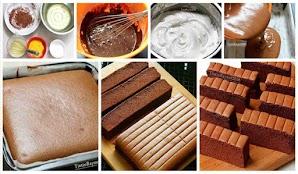 Resep Cake Orgura Chocolate Yang Lembut, Moist dan Lumer. Emmm Legit!...