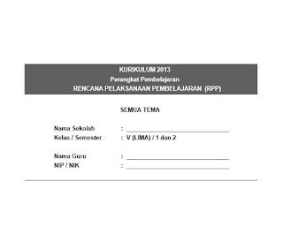 RPP Kelas 5 SD/MI K13 (Semua Tema)