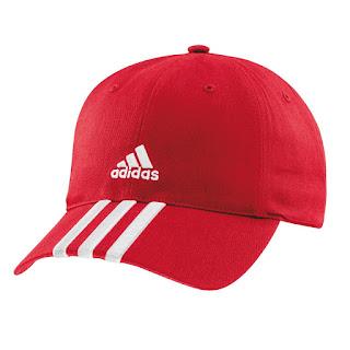 topi adidas merah