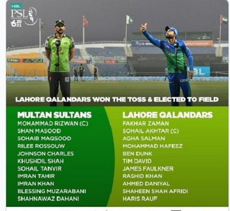 Multan Sultan Beat Lahore Qalandars Psl 6