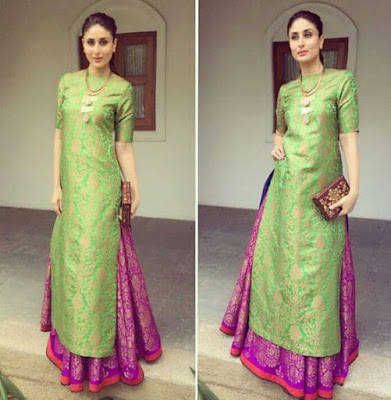 Famous Bollywood Actress And Indian Model Kareena Kapoor Khan In Looking Gorgeous In Indian Outfit.
