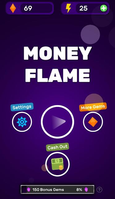 لعبة رائعة لربح رصيد الباي بال مجانا | اقل سحب 1$ | تطبيق Money Flame