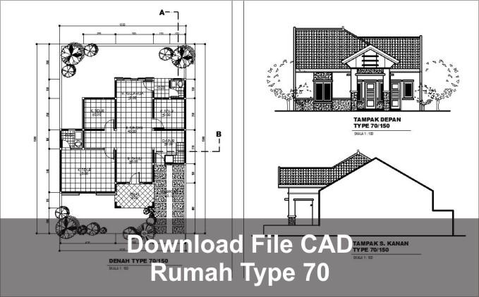 download rumah type 70 autocad