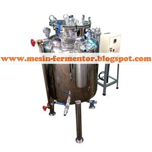 Mesin fermentor kapasitas 50 liter