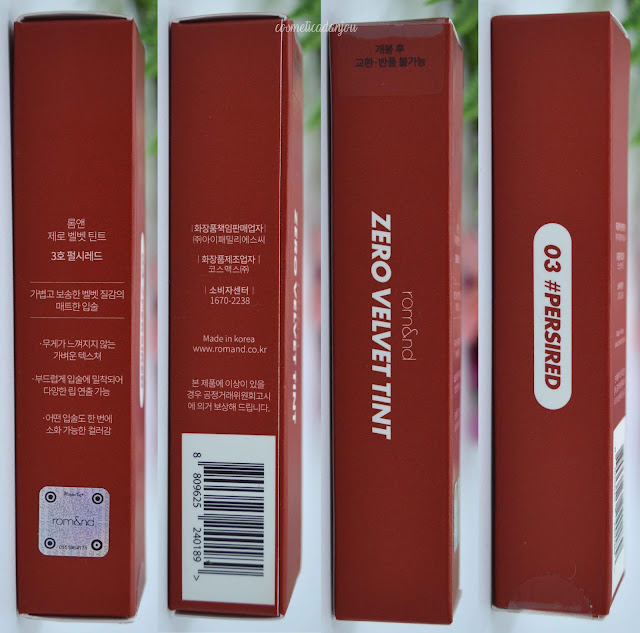 romand Zero Velvet Tint #03 Persi Red
