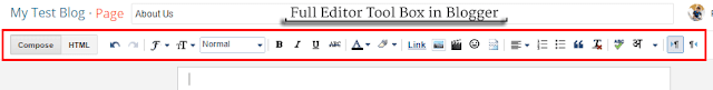 All the Page editor tools and how to use them - Font Changing - Links - Images in Blogger