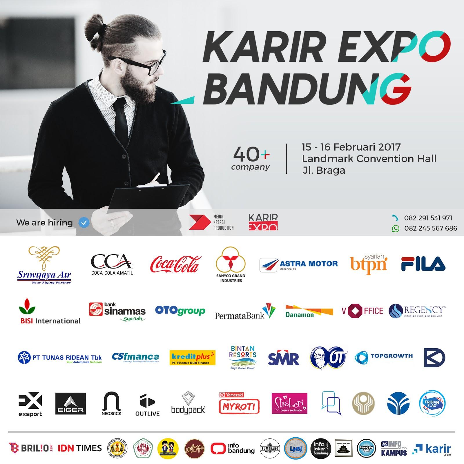 Karir Expo 15 s/d 16 Februari 2017 Landmark Convention Hall