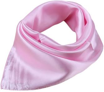 Cheap Plain Shiny Pink Satin Scarves