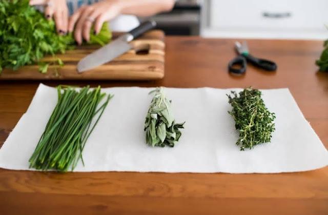 tisu di atas sayuran