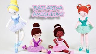Boneca de crochê amigurumi Bailarina