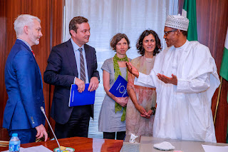 'I'm impressed with INEC's preparations for the 2019 elections - President Buhari tells EU election observers