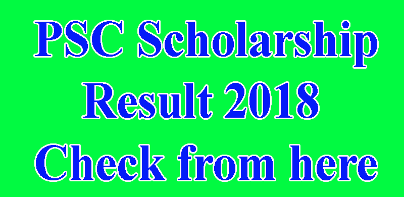 PSC Scholarship Result 2018 All Education Board