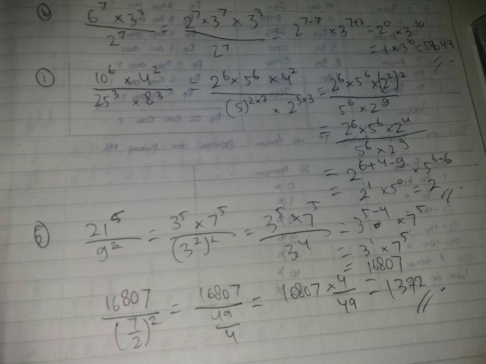 S pangkat 2 per s pangkat 4 × s pangkat 9 per s pangkat 3 = s. Matematika Kelas 9 Latihan 1 3 Halaman 31 Doc Soalkunci