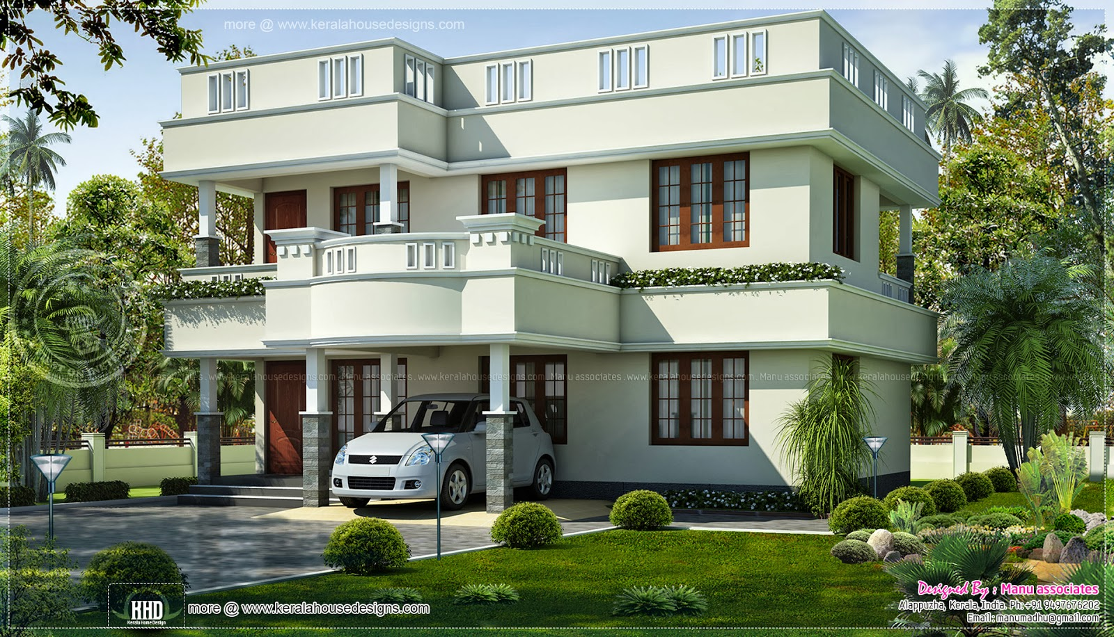 1646 3 bedroom low budget house kerala home for Budget home plans