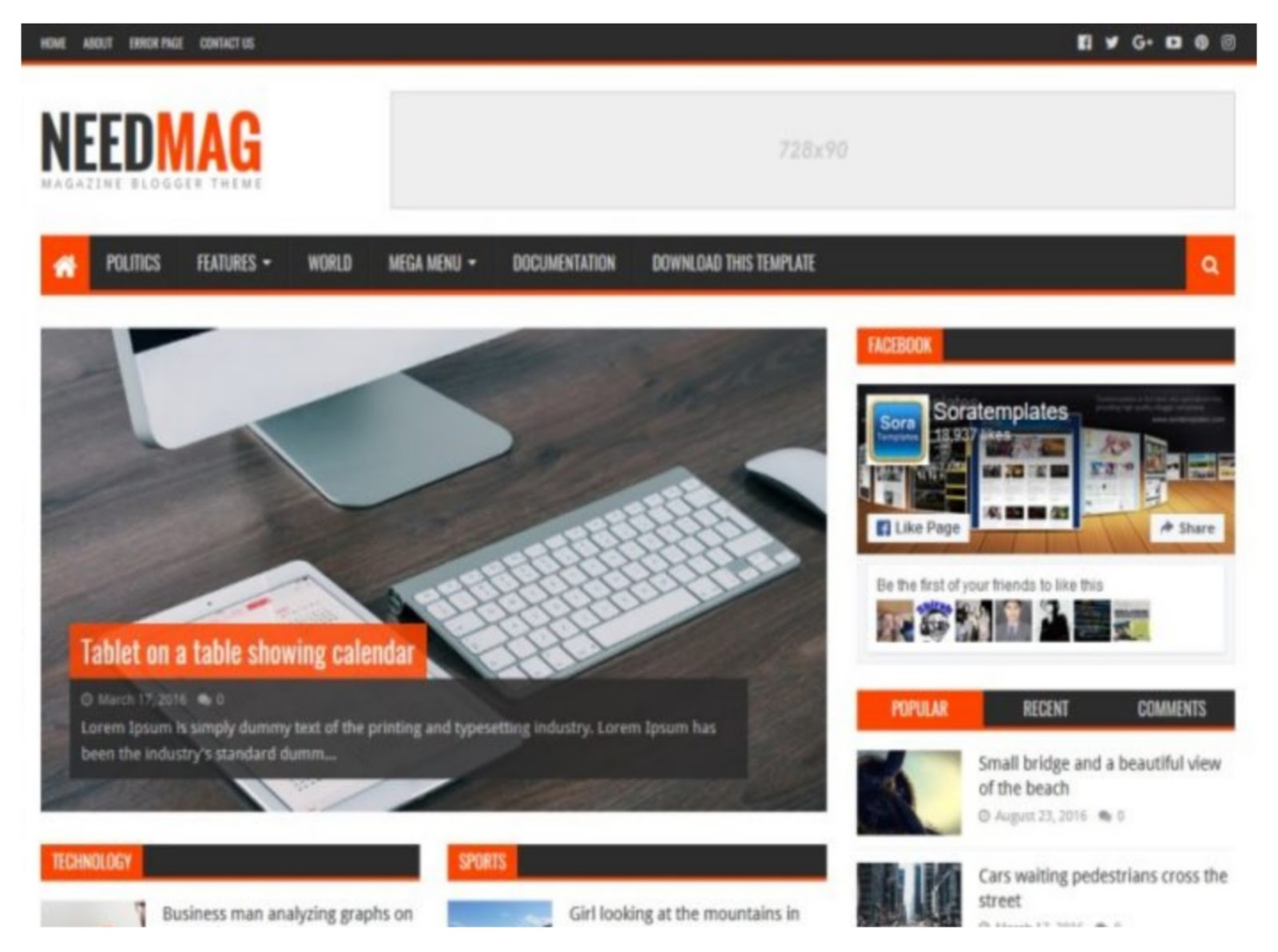 Need Mag Blogger Template