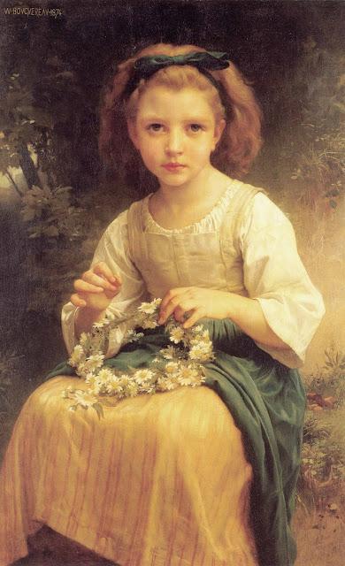 Адольф Вильям Бугро - Дитя, плетущее венок (1874)