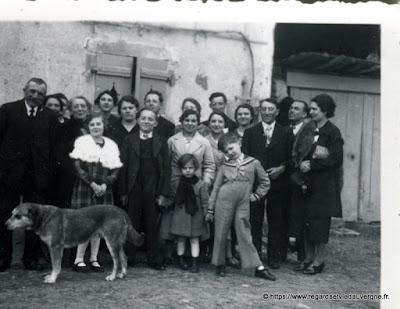 photo de famille noir et blanc